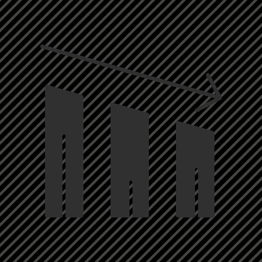 bar graph, data, market, statistic icon