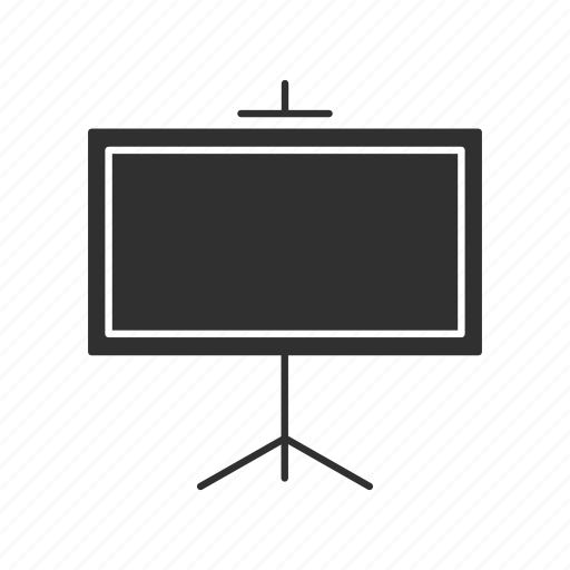 chalk board, classroom, projector screen, stand icon