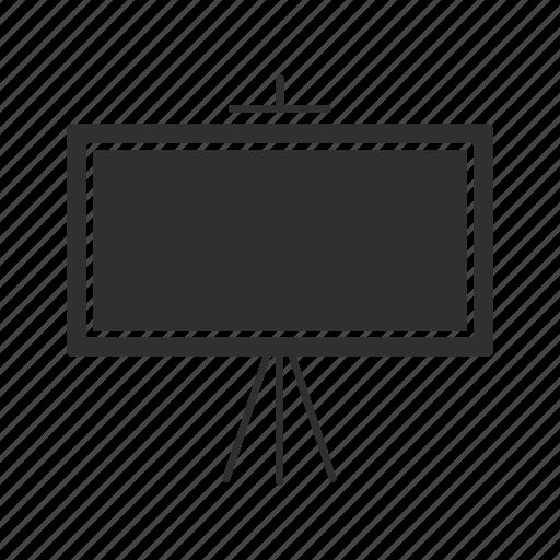 board, chalk board, classroom, stand icon
