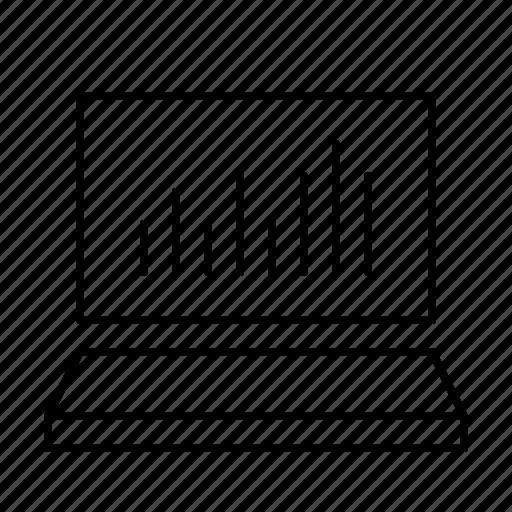bar, chart, keynote, notebook, powerpoint, presentation, speech icon