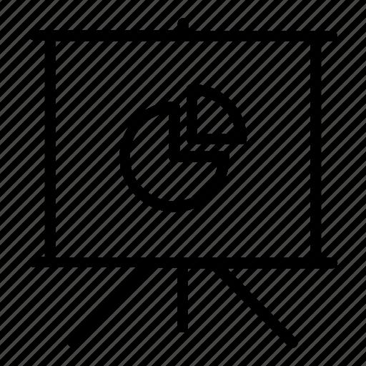 chart, data, deck, pie chart, pitch, powerpoint, presentation, slide, slideshow icon
