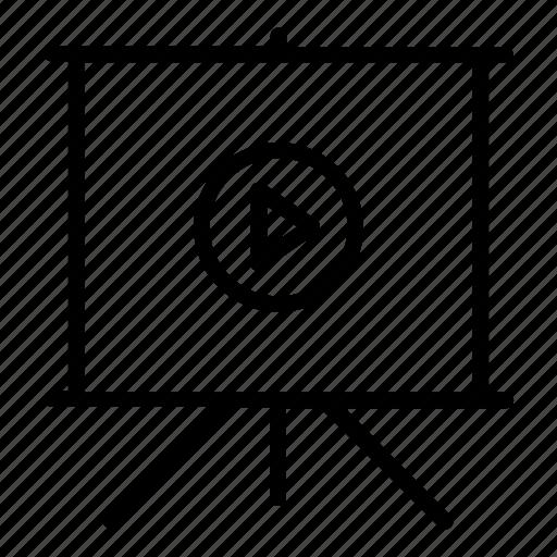 clip, deck, movie, pitch, powerpoint, presentation, slide, slideshow, video icon