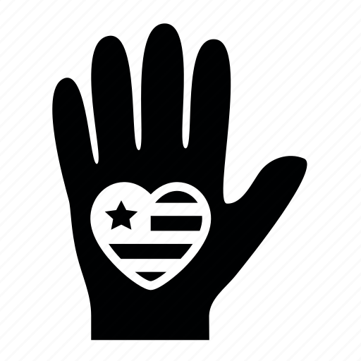 day, flag, hand, heart, presidents, usa icon