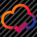 cloud, cloud success, interface, internet, sync icon