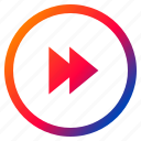 audio, fast, forward, interface, media, playback, video icon