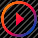 audio, forward, media, play, playback, resume, video