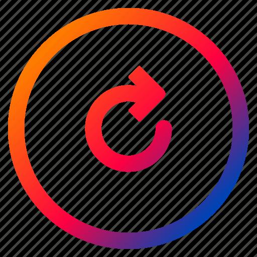 audio, media, playback, refresh, repeat, replay, video icon