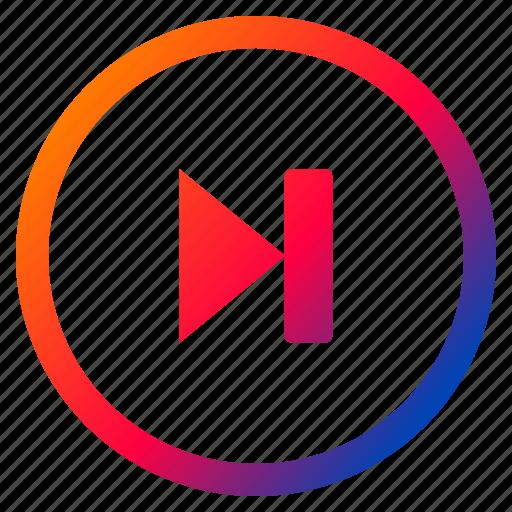 audio, forward, interface, media, playback, skip, video icon