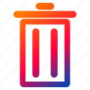bin, garbage, interface, recycle, remove, trash icon