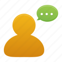 bubble, chat, comment, communication, message, talk, user icon