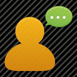 bubble, chat, comment, communication, message, talk, user icon