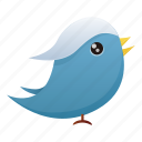 animal, bird, communication, media, social, social media, twitter icon