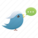 bird, communication, media, social, social media, tweet, twitter icon
