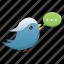bird, social media, twitter, communication, media, social, tweet