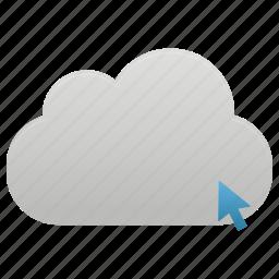 click, cloud, data, network icon