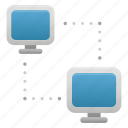 computer, connection, device, monitor, network, pc, pcs icon