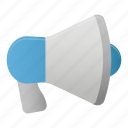 loud, loudspeaker, megaphone, microphone, sound, speaker icon