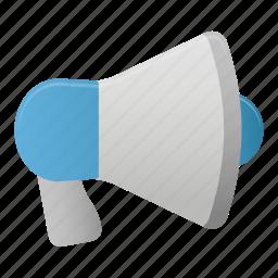 loud, loudspeaker, megaphone, microphone, sound, speaker icon