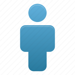 blue, client, human, man, people, profile, user icon