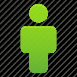 account, avatar, green, man, person, profile, user icon