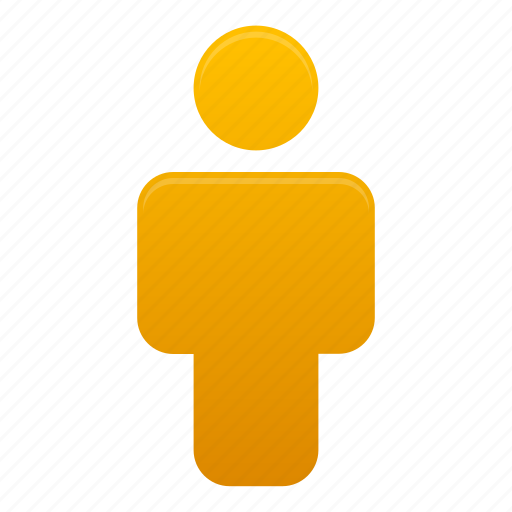client, human, man, orange, people, profile, user icon