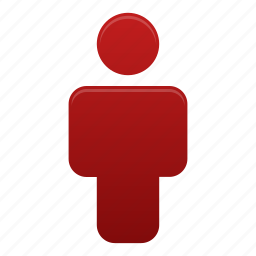 account, client, human, person, profile, red, user icon