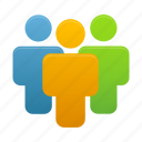 client, clients, group, human, team, user, users icon