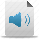 audio, document, file icon