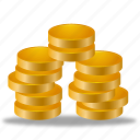 cash, coins, earning, money, statements icon