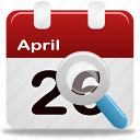 calendar, event, search icon
