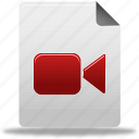document, file, video icon