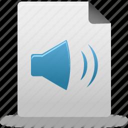 audio, document, file icon