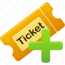 create, ticket icon