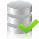 accept, check, data, database icon