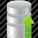 data, database, upload icon