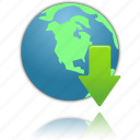 download, globe icon