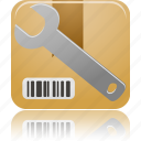configure, item, product, wrench icon
