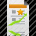 document, file, history, rank icon