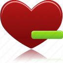 favorites, from, heart, remove icon