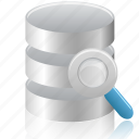 data, database, search icon
