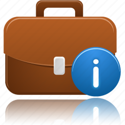 briefcase, business, info icon