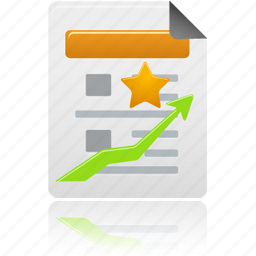 document, file, history, rank icon
