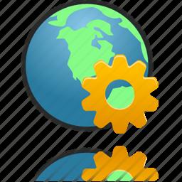 management, setting, web, wheel icon