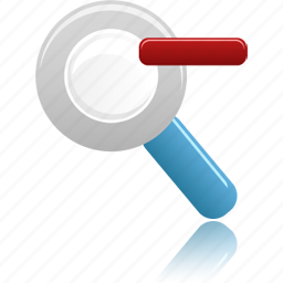 out, search, zoom icon