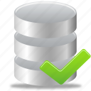 accept, data, database icon