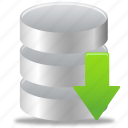 data, database, download icon