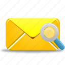 mail, search icon
