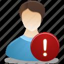 administrator, male, warning, user, man