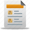 document, file, product, report, sales icon