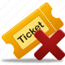 ticket, remove, delete